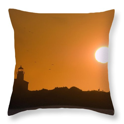 Nature Throw Pillow featuring the photograph Lighthouse by John Shaw