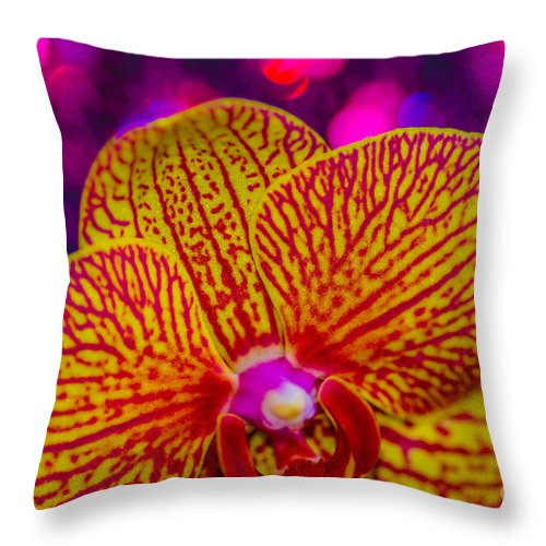 Throw Pillow featuring the photograph Orchid by Gerald Kloss