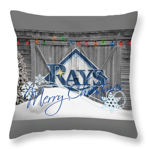 Rays Throw Pillow featuring the photograph Tampa Bay Rays by Joe Hamilton