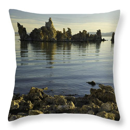 Tufa Throw Pillow featuring the photograph Tufa Formations by John Shaw