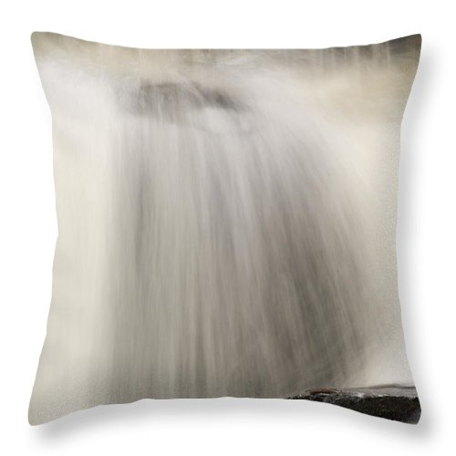 Bond Falls Throw Pillow featuring the photograph Waterfall by John Shaw