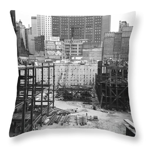 Wtc Throw Pillow featuring the photograph World Trade Center by William Haggart