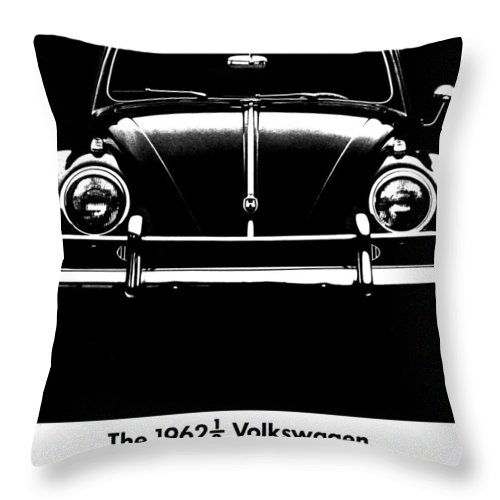 Volkswagen Throw Pillow featuring the photograph 62 And A Half by Benjamin Yeager