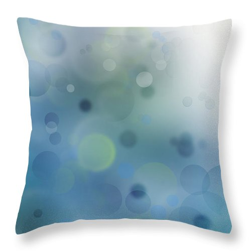 Abstract Throw Pillow featuring the photograph Abstract Background by Les Cunliffe