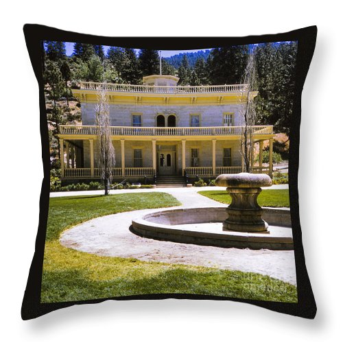 Print Throw Pillow featuring the photograph 660 Sl Bowers Mansion by Chris Berry