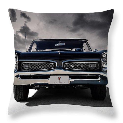 Transportation Throw Pillow featuring the digital art '67 Gto by Douglas Pittman