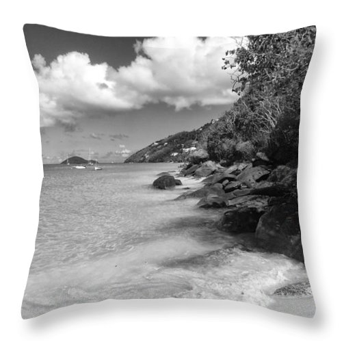 Beach Throw Pillow featuring the photograph 7-28-14 by John Holfinger