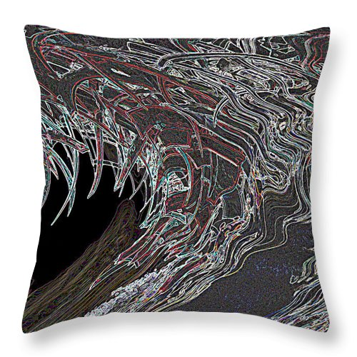 Abstract Throw Pillow featuring the photograph Abstract by Les OGorman