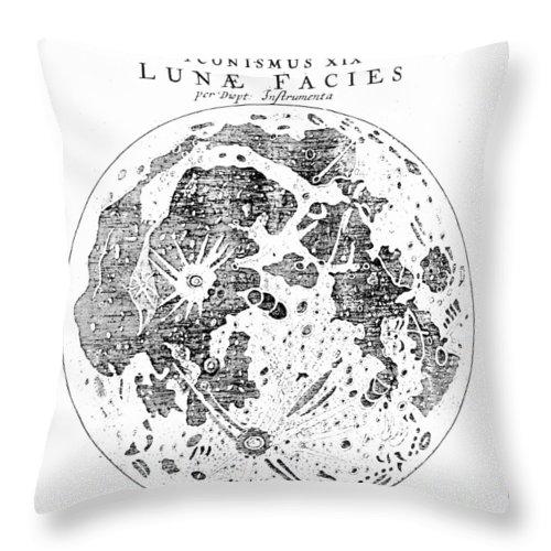 1611 Throw Pillow featuring the photograph Johannes Kepler (1571-1630) by Granger