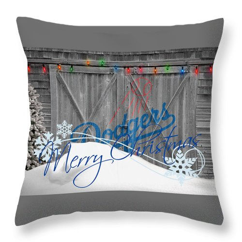 Dodgers Throw Pillow featuring the photograph Los Angeles Dodgers by Joe Hamilton