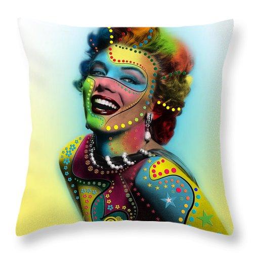 Pop Art Throw Pillow featuring the photograph Marilyn Monroe by Mark Ashkenazi