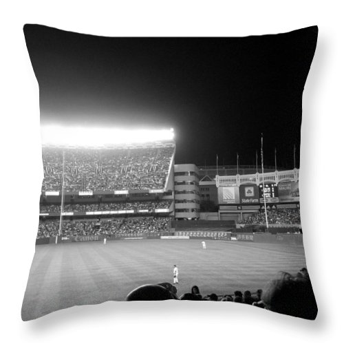 Yankees Throw Pillow featuring the photograph Memories Of The House That Ruth Built by Aurelio Zucco