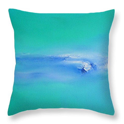 Tsunami Throw Pillow featuring the painting Tsunami by Charles Stuart