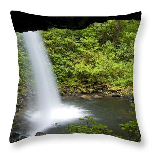 Landscape Throw Pillow featuring the photograph Waterfall by John Shaw