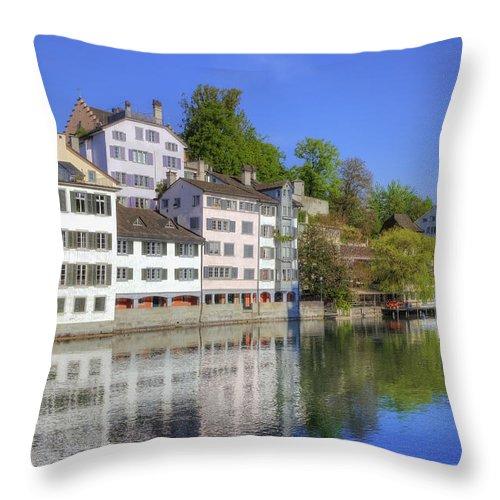 Zuerich Throw Pillow featuring the photograph Zurich by Joana Kruse