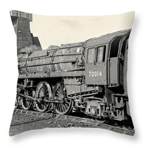 Steam Throw Pillow featuring the photograph 70014 Iron Duke by David Birchall