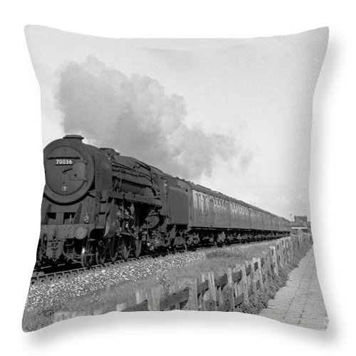 Steam Throw Pillow featuring the photograph 70036 Boadicea by David Birchall