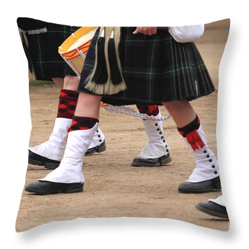 Army Throw Pillow featuring the photograph English Uniforms by Henrik Lehnerer