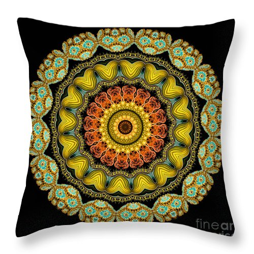 Ernst Haeckel Throw Pillow featuring the photograph Kaleidoscope Ernst Haeckl Sea Life Series by Amy Cicconi
