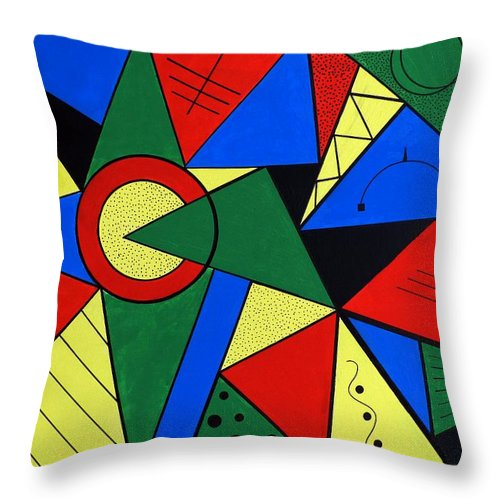 Abstract Throw Pillow featuring the painting Modern Art by Gabi Siebenhuehner