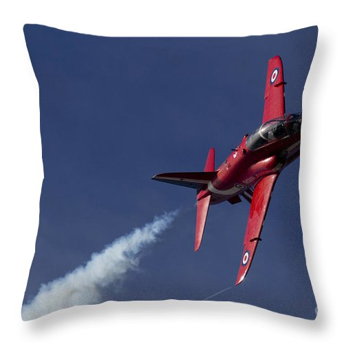 Red Arrows Throw Pillow featuring the digital art Red Arrows by J Biggadike