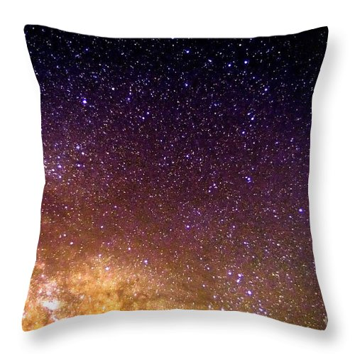 Stars Throw Pillow featuring the photograph Under The Milky Way by Thomas R Fletcher