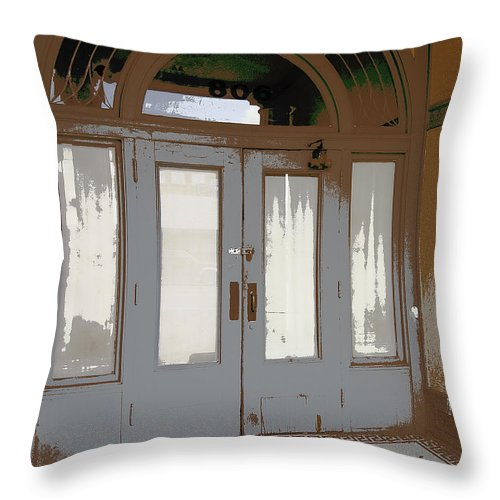 Victorian Throw Pillow featuring the photograph 806 North - Out Of The Weather by Daniel Hagerman