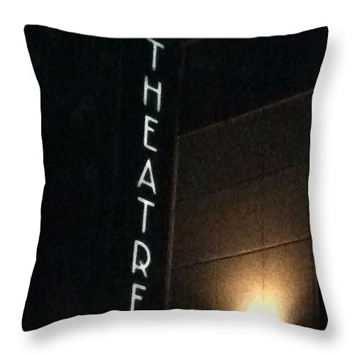 Theater Throw Pillow featuring the photograph Untitled by Barbara Ruano