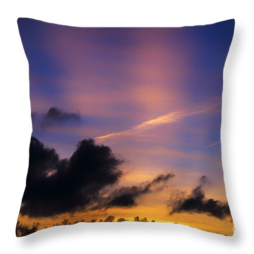 Sunset Throw Pillow featuring the photograph Appalachian Afterglow by Thomas R Fletcher