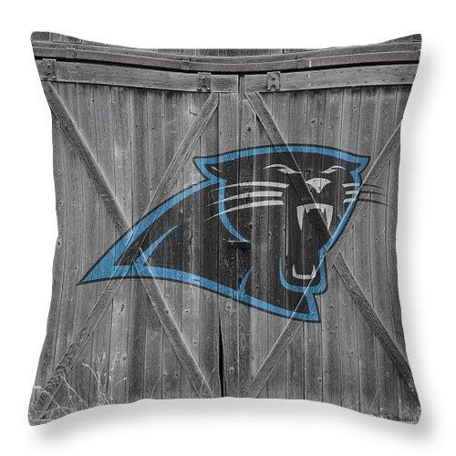 Panthers Throw Pillow featuring the photograph Carolina Panthers by Joe Hamilton