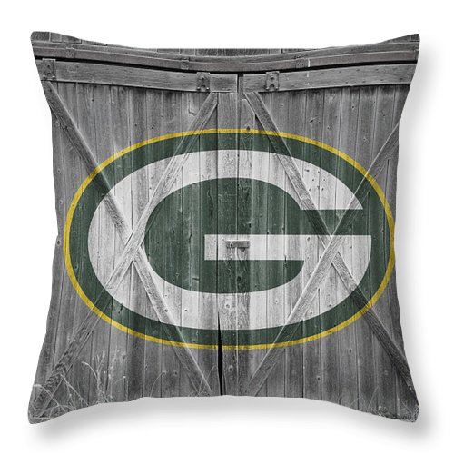 Packers Throw Pillow featuring the photograph Green Bay Packers by Joe Hamilton