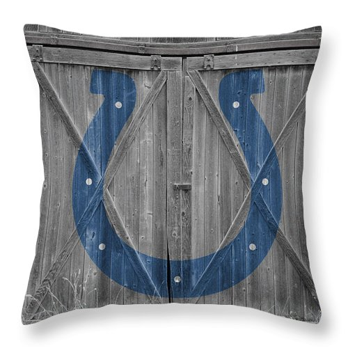 Colts Throw Pillow featuring the photograph Indianapolis Colts by Joe Hamilton