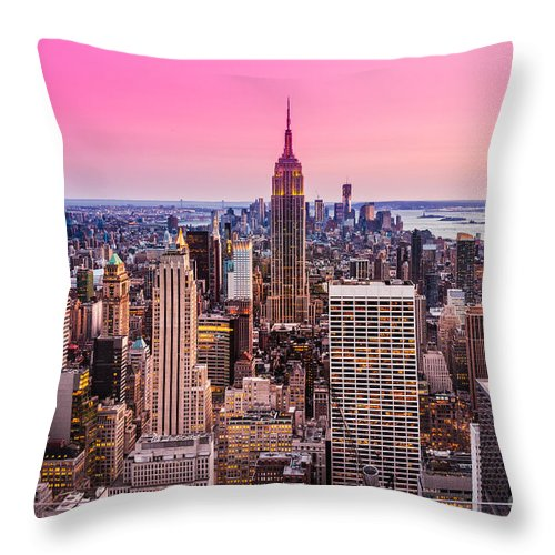 America Throw Pillow featuring the photograph Manhattan - New York City by Luciano Mortula