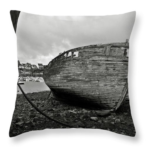 Old Throw Pillow featuring the photograph Old Abandoned Ships by RicardMN Photography
