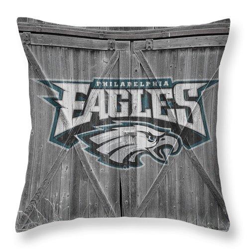 Eagles Throw Pillow featuring the photograph Philadelphia Eagles by Joe Hamilton