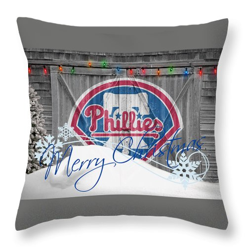 Phillies Throw Pillow featuring the photograph Philadelphia Phillies by Joe Hamilton