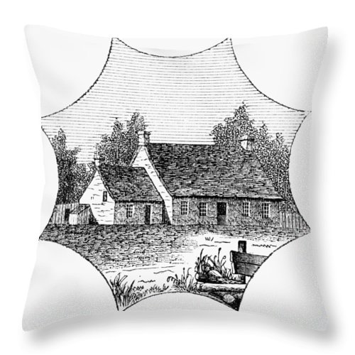 1780 Throw Pillow featuring the photograph Washington: Headquarters by Granger