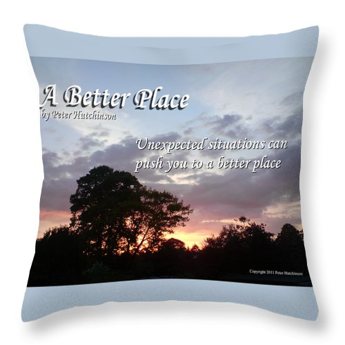 Landscape Throw Pillow featuring the photograph A Better Place by Peter Hutchinson