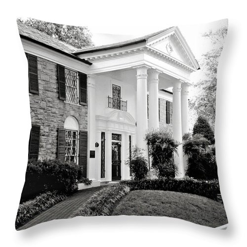 Mansion Throw Pillow featuring the photograph A Bit Of Graceland by Julie Palencia