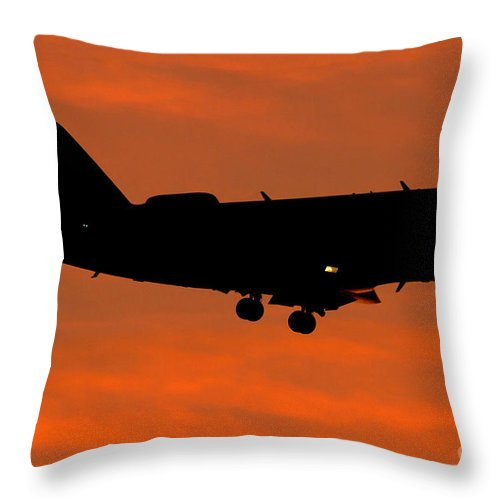 No People Throw Pillow featuring the photograph A Bombardier Challenger Cl-600 Private by Luca Nicolotti