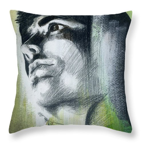 Figurative Art Throw Pillow featuring the painting A Boy Named Persistence by Rene Capone