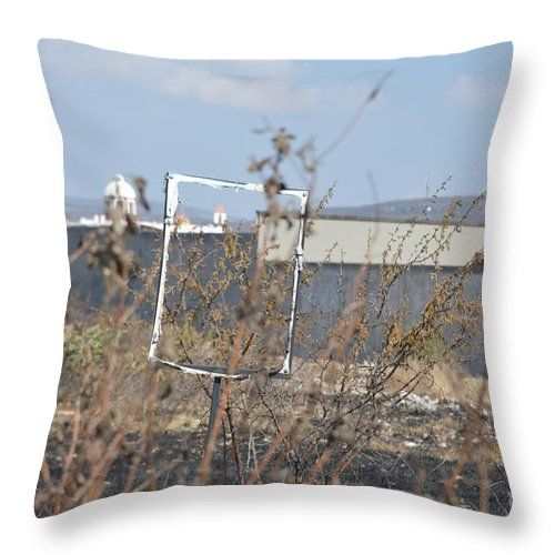Sign Throw Pillow featuring the photograph A Church In Your Future by Brian Boyle