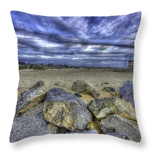 Clouds Throw Pillow featuring the photograph A Cloudy Day by Doug Dailey