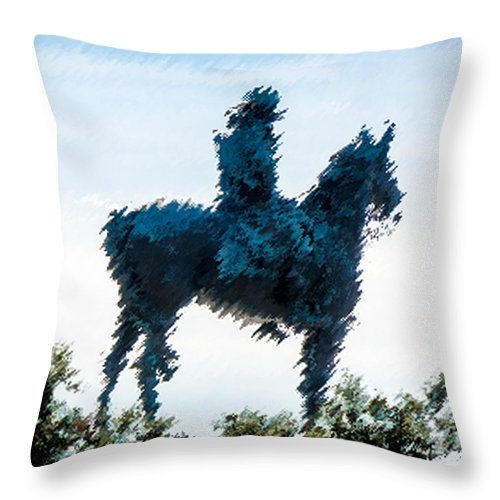 Grant Throw Pillow featuring the photograph A Cold Winter's Day by Don Allen