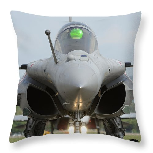 Vertical Throw Pillow featuring the photograph A Dassault Rafale Fighter Aircraft by Remo Guidi