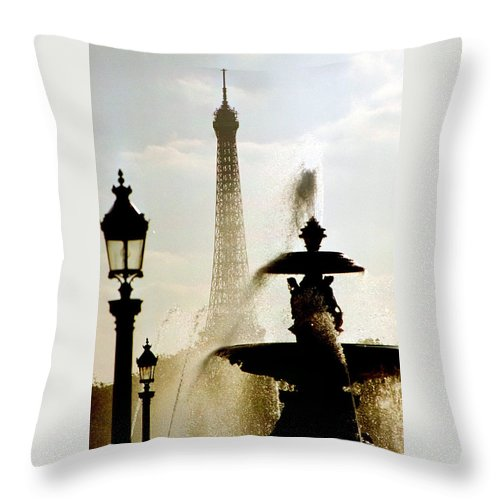 Eiffel Tower Throw Pillow featuring the photograph A Different View by Jennifer Robin
