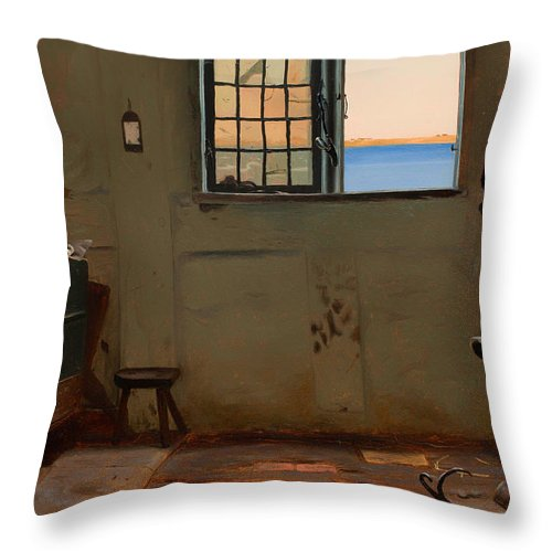 Painting Throw Pillow featuring the painting A Fisherman's Bedroom by Mountain Dreams