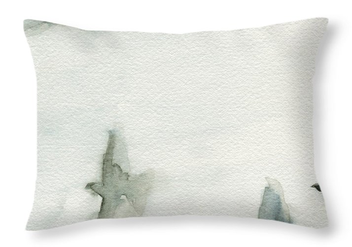 Bird Throw Pillow featuring the painting A Flock of Pigeons 1 Watercolor Painting of Birds by Beverly Brown