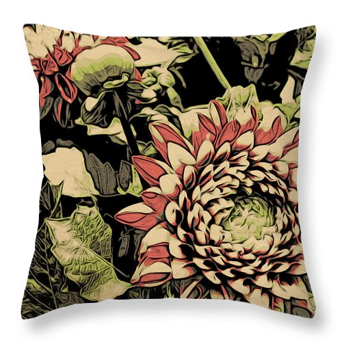 Flowers Throw Pillow featuring the photograph A Floral View by Alice Gipson