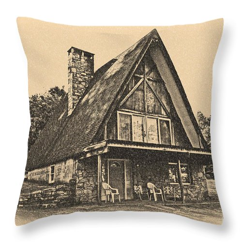 A Frame Throw Pillow featuring the photograph A Frame In Black And White by Tom Gari Gallery-Three-Photography
